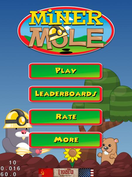 MinerMole start screen