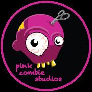 Pink Zombie Studios logo round