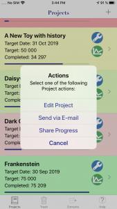 WriteOn iOS actions