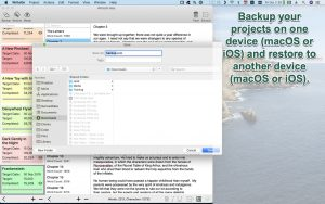 WriteOn macOS backup your project
