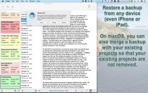 WriteOn macOS Restore a backup