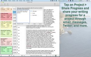 WriteOn macOS Share progress