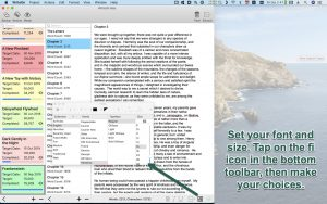 WriteOn macOS Font settings